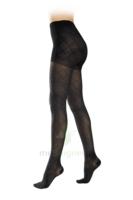 Sigvaris Styles Motifs Losanges Collant  Femme Classe 2 Noir Small Normal à Serris