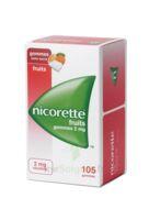 Nicorette 2 Mg Gomme à Mâcher Médicamenteuse Sans Sucre Fruits Plq/105 à Serris