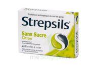 Strepsils Citron Sans Sucre, Pastille édulcorée à L'isomalt, Au Maltitol Et à La Saccharine Sodique à Serris