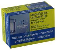 Magnesium/vitamine B6 Biogaran Conseil 48 Mg/5 Mg, Comprimé Pelliculé à Serris