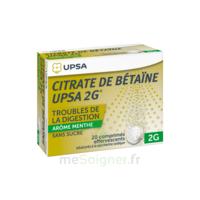 Citrate De Bétaïne Upsa 2 G Comprimés Effervescents Sans Sucre Menthe édulcoré à La Saccharine Sodique T/20 à Serris