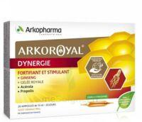 Arkoroyal Dynergie Ginseng Gelée Royale Propolis Solution Buvable 20 Ampoules/10ml à Serris