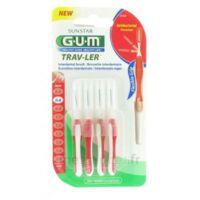 Gum Trav-ler 4 Brossettes Rouge Interdentaires 0.8mm à Serris