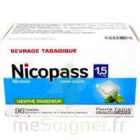 Nicopass 1,5 Mg Pastille Sans Sucre Menthe Fraîcheur Plq/96 à Serris