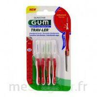 Gum Trav - Ler, 0,8 Mm, Manche Rouge , Blister 4 à Serris