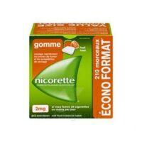 Nicorette 2 Mg Gomme à Mâcher Médicamenteuse Sans Sucre Fruits Plq/210 à Serris