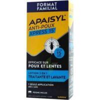 Apaisyl Anti-poux Xpress 15' Lotion Antipoux Et Lente 100ml+peigne à Serris