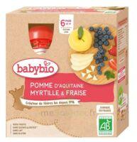 Babybio Gourde Pomme Myrtille Fraise à Serris